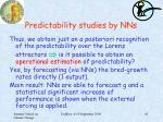 predictability studies by nns6