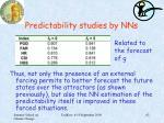 predictability studies by nns7