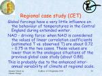 regional case study cet2