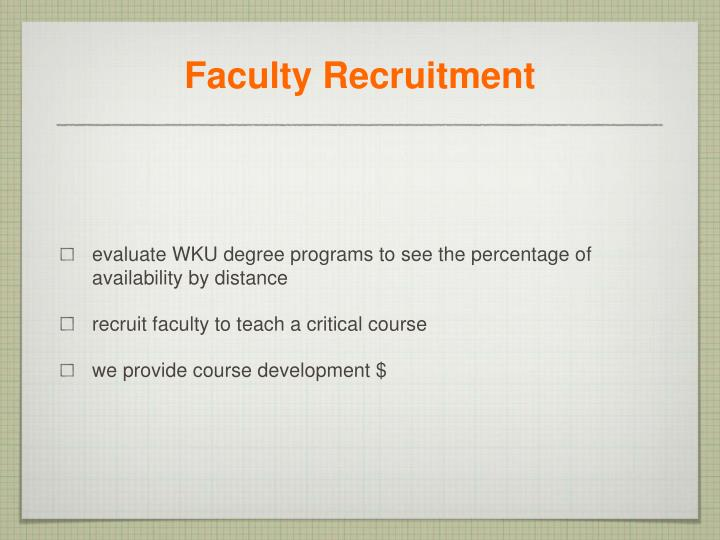 Faculty Recruitment