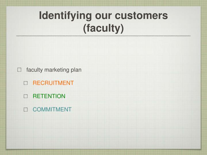 Identifying our customers faculty
