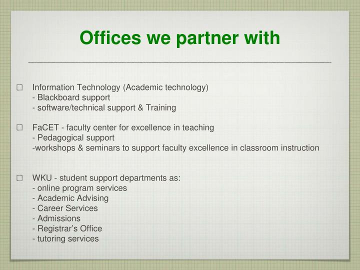 Offices we partner with