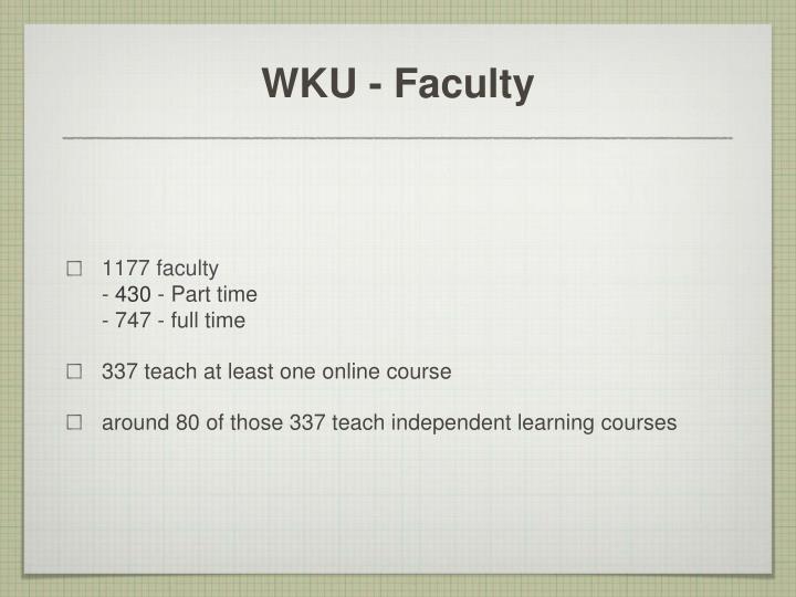 Wku faculty