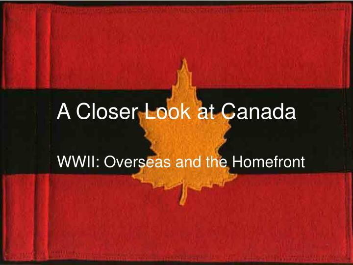 world war ii and canada