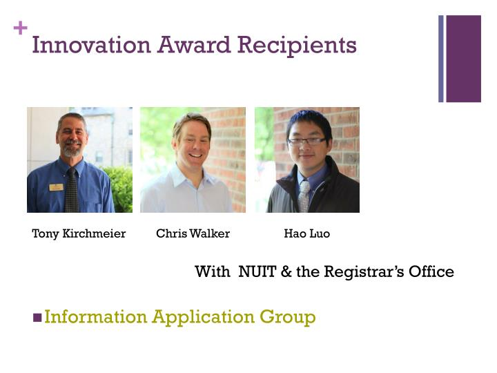 Innovation Award Recipients