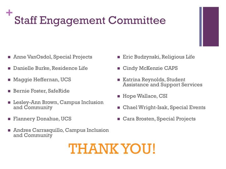 Staff Engagement Committee