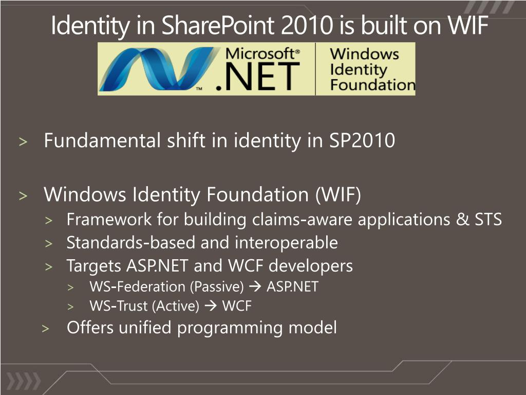 PPT - How Microsoft SharePoint 2010 is built with Windows