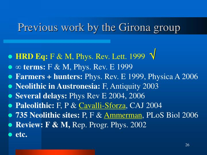 Previous work by the Girona group