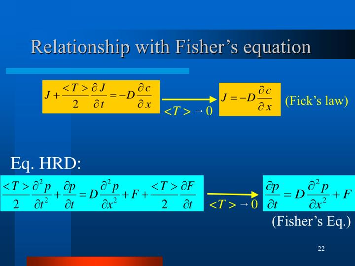 Relationship with Fisher's equation