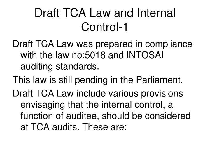 Draft TCA Law and Internal Control-1