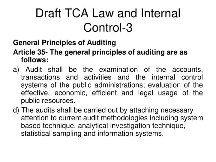 Draft TCA Law and Internal Control-3
