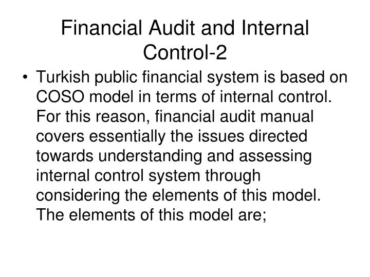 Financial Audit and Internal Control-