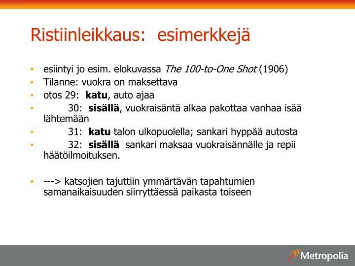 Ristiinleikkaus:  esimerkkejä
