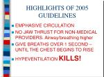 highlights of 2005 guidelines