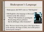 shakespeare s language