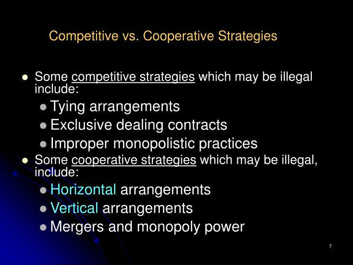 competition vs cooperation