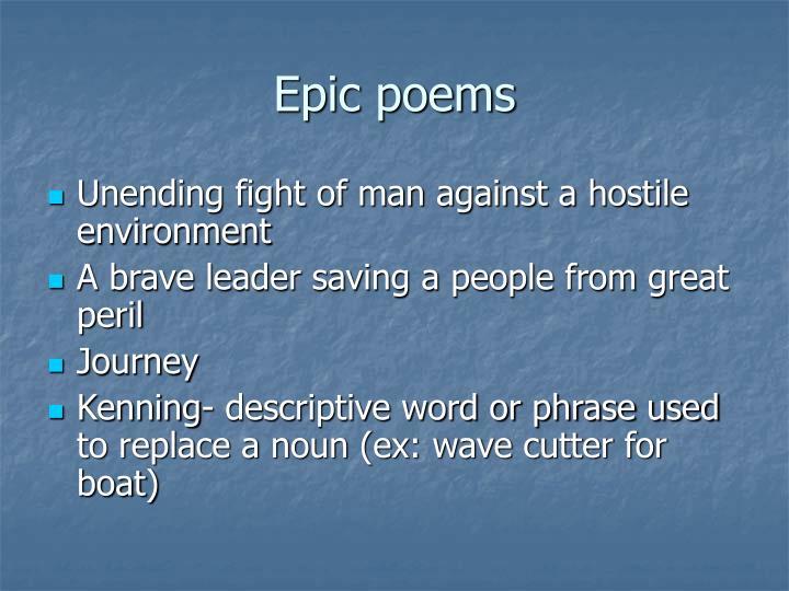 Epic poems