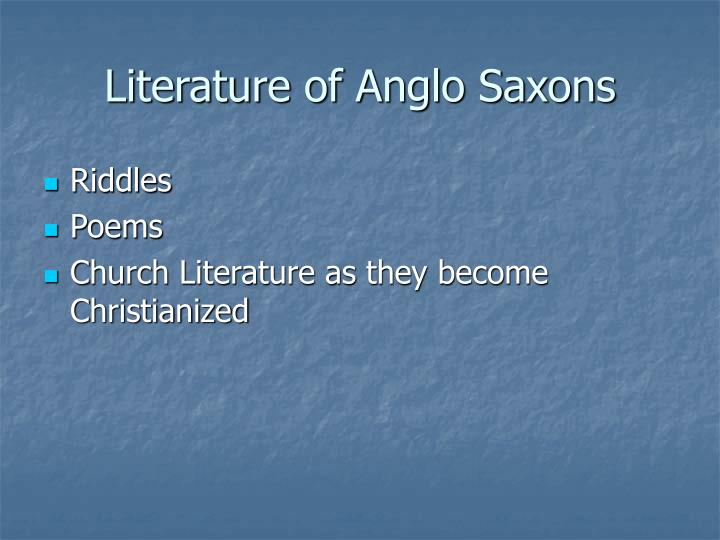 Literature of Anglo Saxons