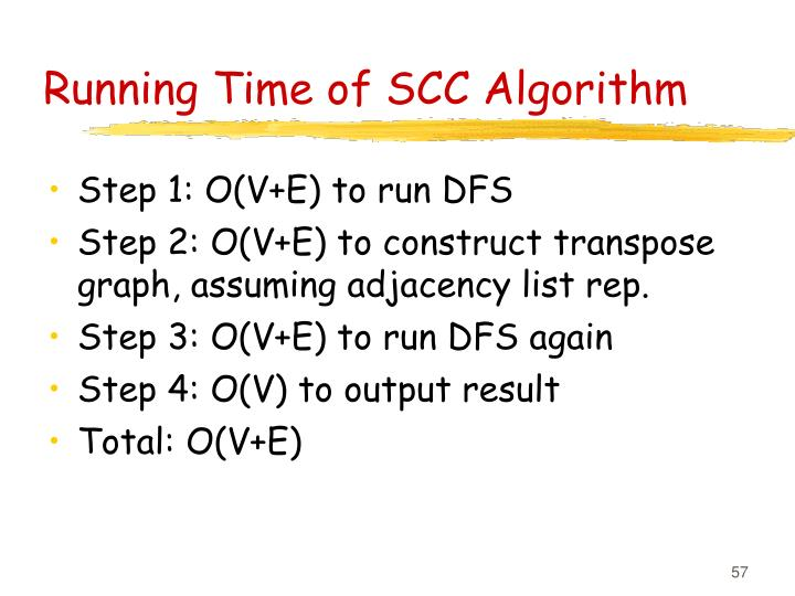 Running Time of SCC Algorithm