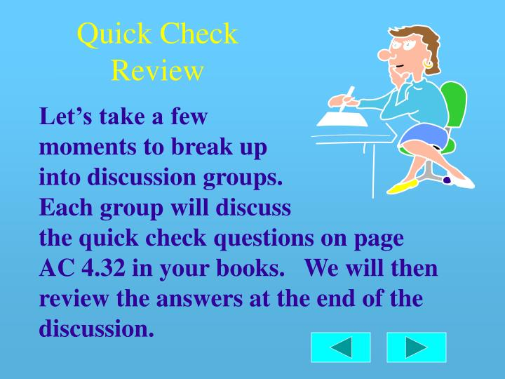 Quick Check Review