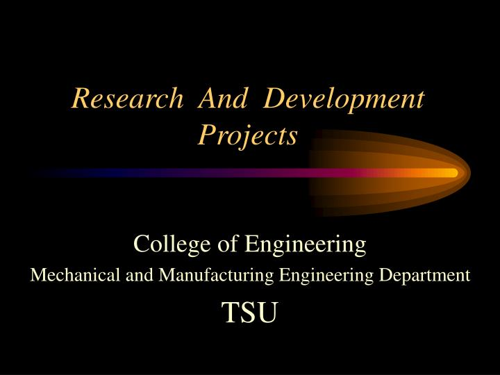 research and development projects n.