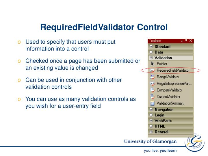 RequiredFieldValidator Control