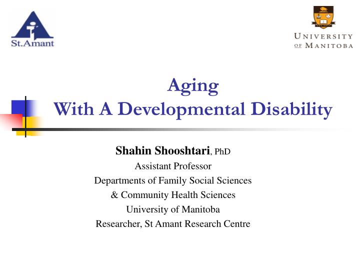 aging with a developmental disability n.