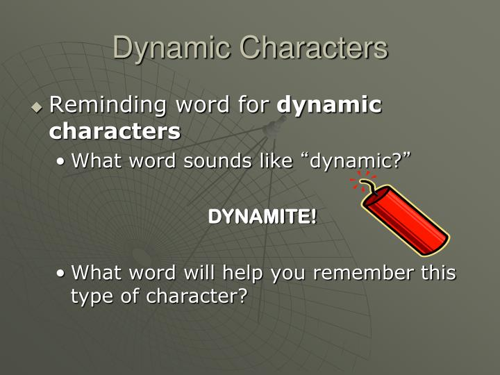 Dynamic characters1