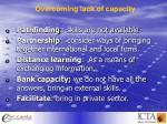 overcoming lack of capacity