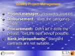 quality project management