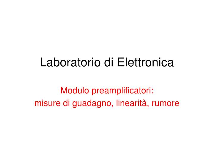 laboratorio di elettronica n.