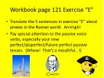 workbook page 121 exercise e