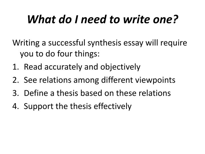 What do i need to write one