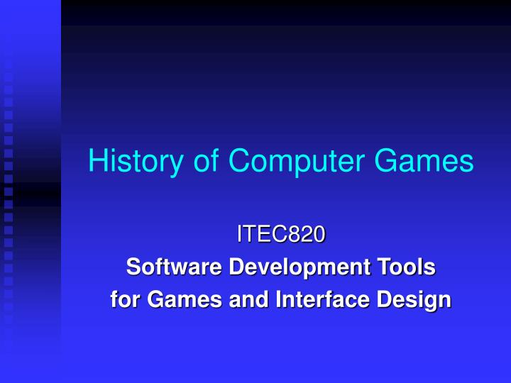 history of computer games n.