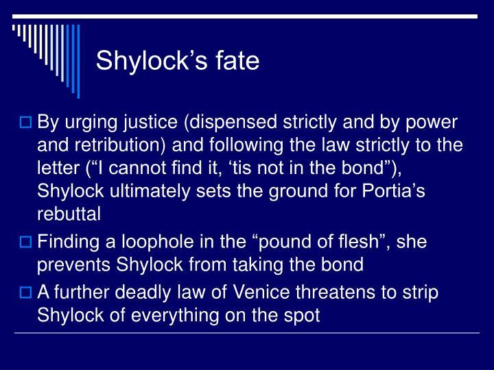 Shylock's fate
