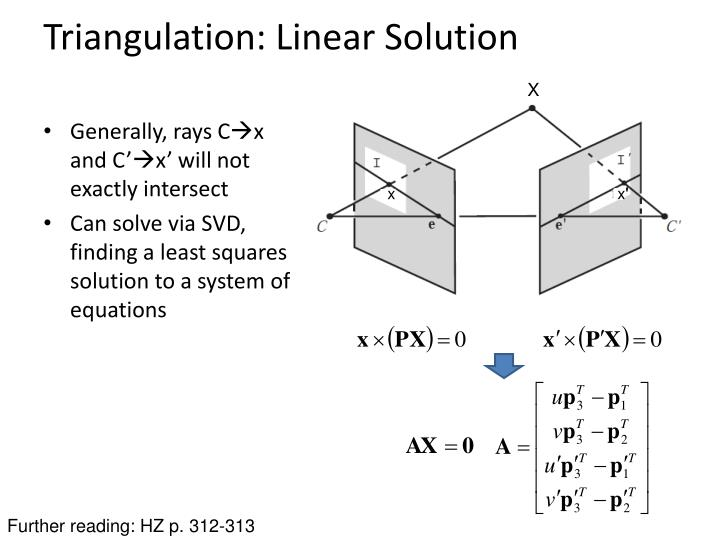 Triangulation: Linear Solution