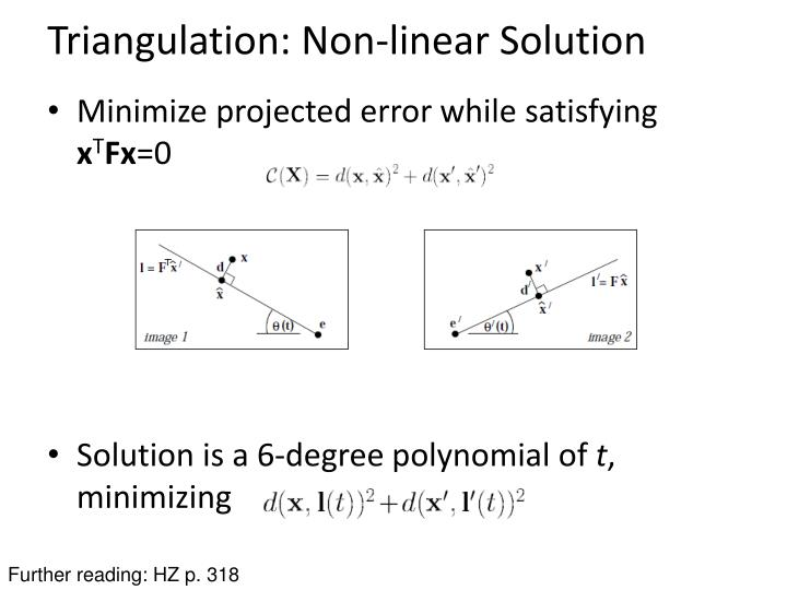 Triangulation: Non-linear Solution