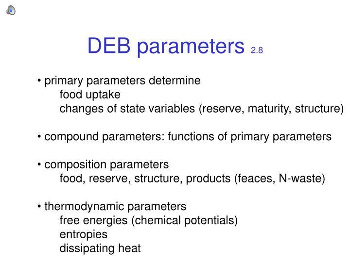 DEB parameters