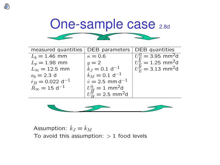 One-sample case
