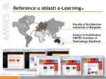 reference u oblasti e learning a