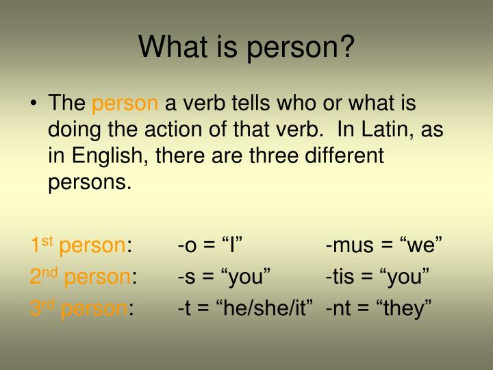 What is person?