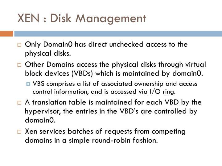 XEN : Disk Management