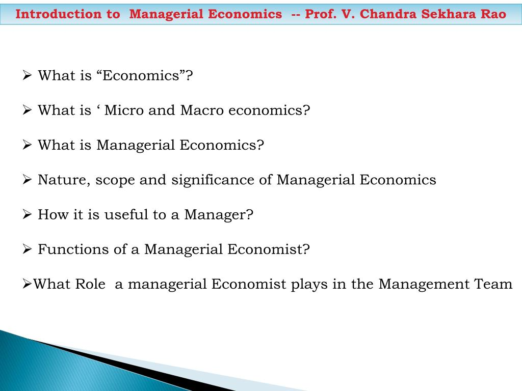 introduction of micro and macro economics