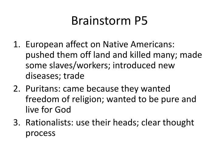 Brainstorm P5