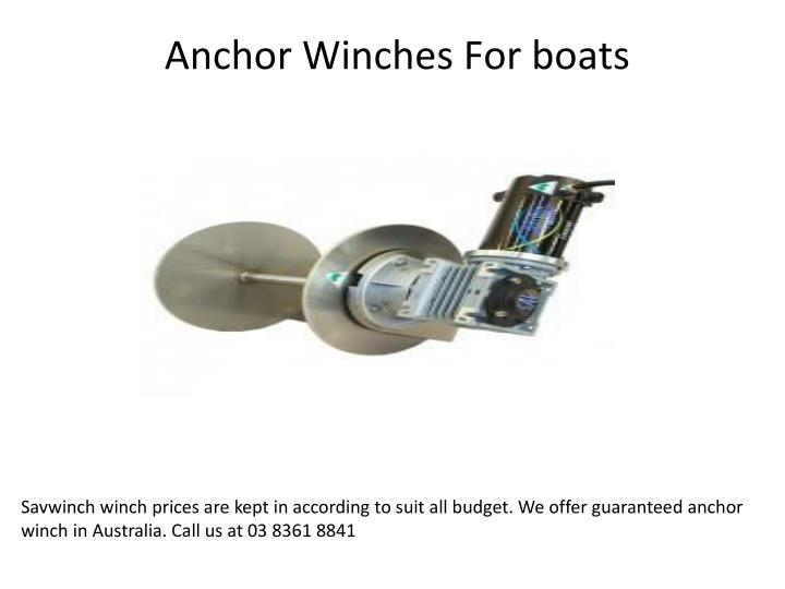 anchor winches for boats n.
