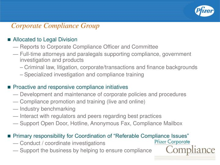 Corporate Compliance Group
