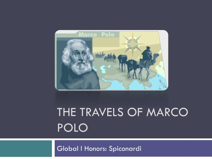 the travels of marco polo n.
