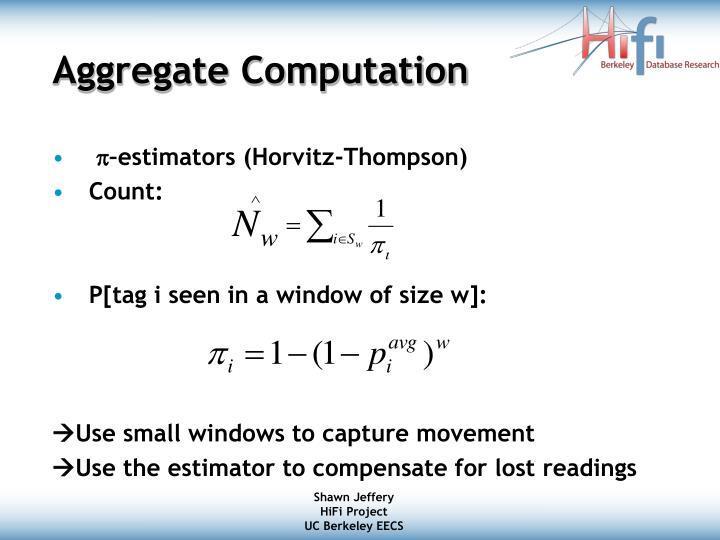 Aggregate Computation