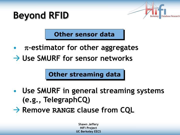 Beyond RFID