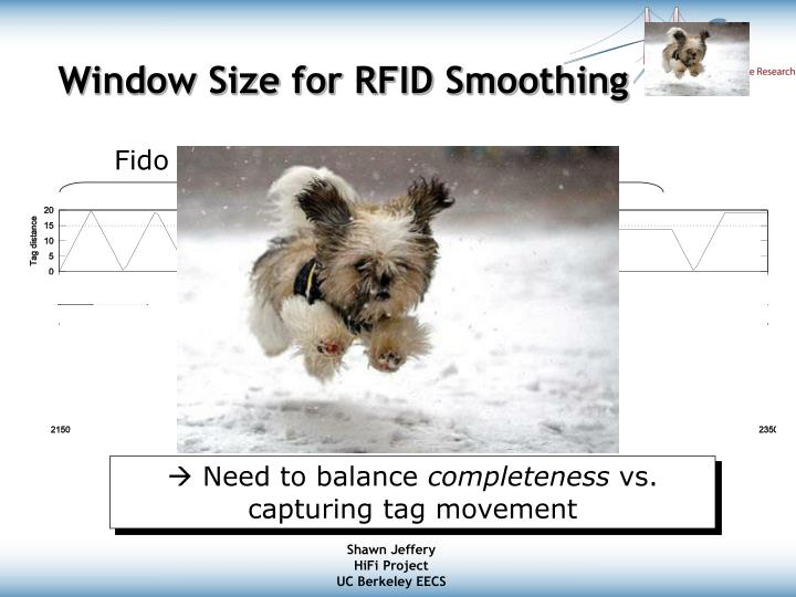 Window Size for RFID Smoothing